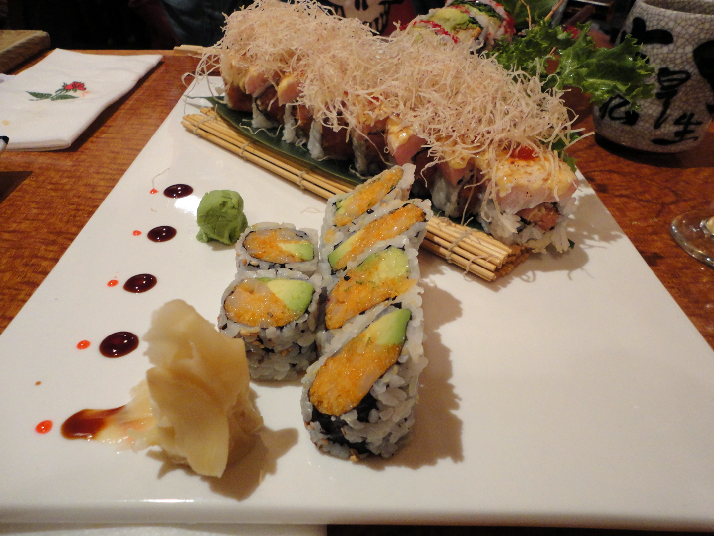 tempura roll the spicy scallop roll and the momoya spicy tuna roll ...